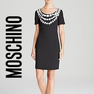 Moschino black Dress - Crepe Faux Rock Pearl S